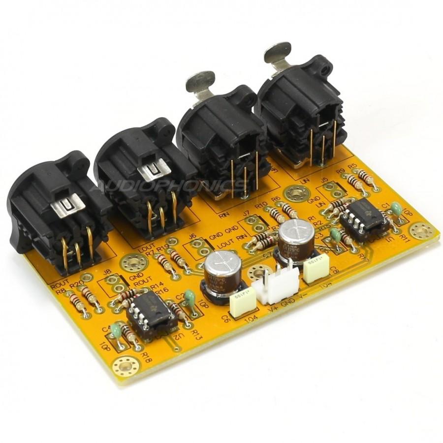 Symmetric To Asymetric Buffer Rca Xlr Audiophonics Integrated Circuit Ne5532 Dual Opamp Ce Distribution