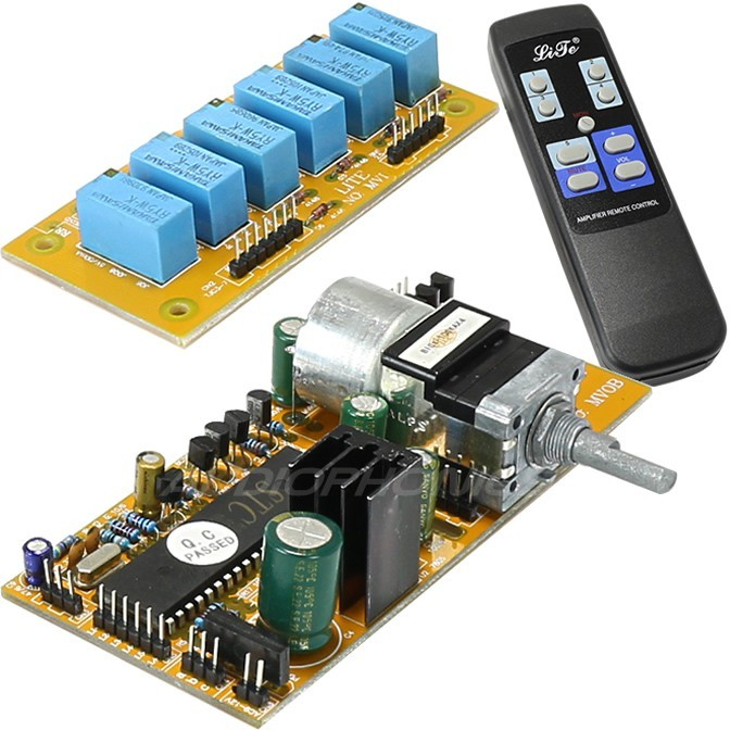 LITE MV04 volume control module Motorised 2+2 channels
