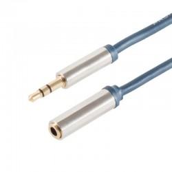 Rallonge câble Jack 3,5mm Mâle - Jack 3,5mm Femelle SLIM LINE 5m