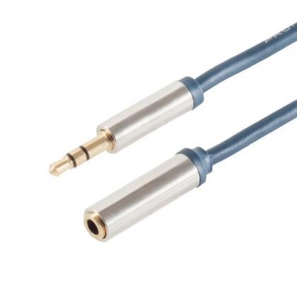 Rallonge câble Jack 3,5mm Mâle - Jack 3,5mm Femelle SLIM LINE 1.5m