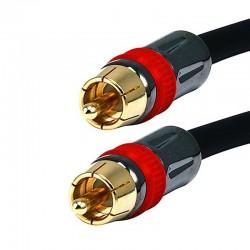 Câble numérique coaxial SPDIF 75 Ohm Cuivre Plaqué Or 24K 3.6m