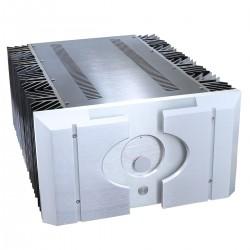 Boitier DIY 100% Aluminium ventilé avec Vu-mètre & dissipateurs 499x480x260mm