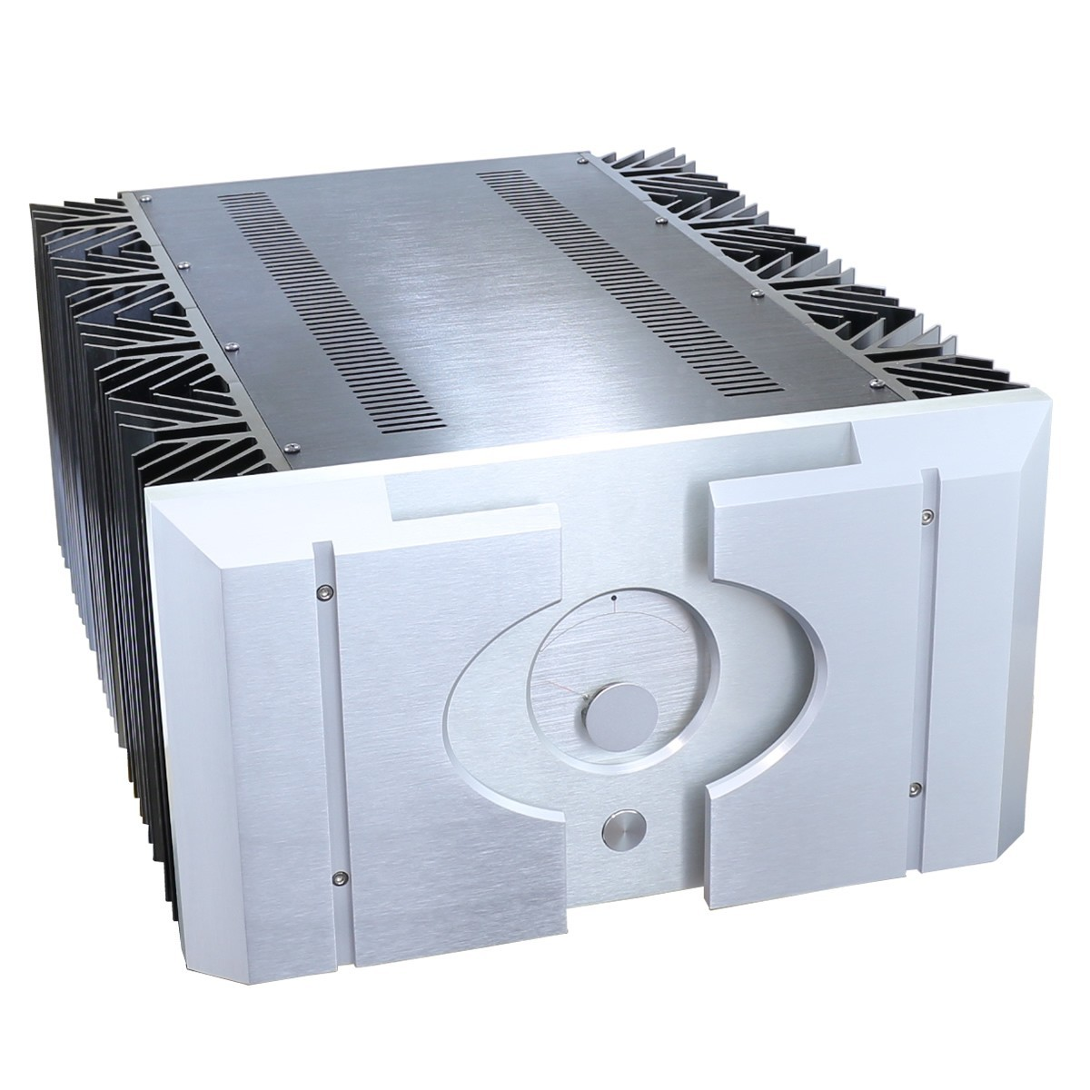 100% Aluminium DIY Box / Case with Vu-meter for Audio Amplifier  620x480x260mm