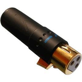 YARBO XLR800 Connecteur XLR Femelle 3 Pôles Plaqué Or Ø 8mm (Unité)