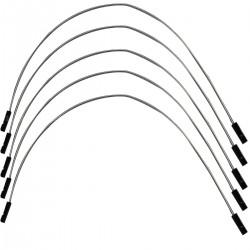 Cavaliers I2S flexible plaqué argent femelle / femelle 2.54mm 25cm AWG 22 (Set x5)