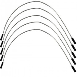 Cavaliers I2S flexible plaqué argent femelle / femelle 2.54mm 15cm AWG 22 (Set x5)