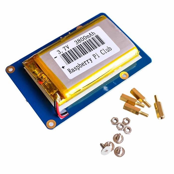 Batterie externe 3.7V / 3800mAh double sortie USB pour Raspberry Pi 3 / Pi 2