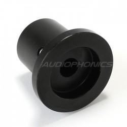 Bouton aluminium noir 22x25x17mm Axe Ø6mm