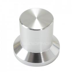 Bouton aluminium argent 22x25x17mm Axe méplat Ø6mm