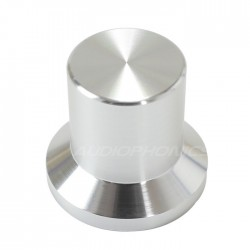 Silver aluminum button 22x25x17mm Flat axis Ø6mm