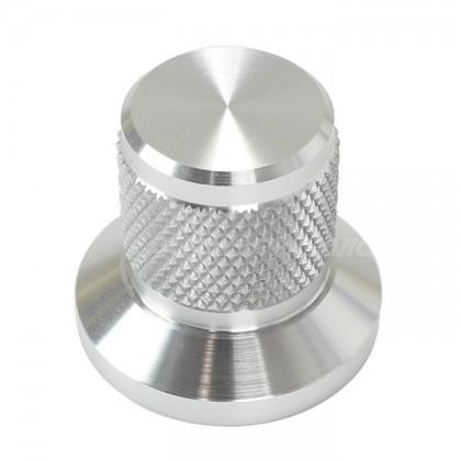 Bouton aluminium Grip argent 22x25x17mm Axe Ø6mm