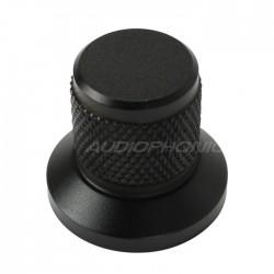 Bouton Aluminium Grip Axe Méplat 25x30x22mm Ø6mm Noir