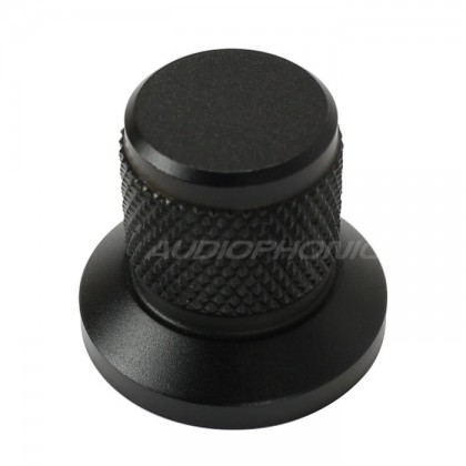 Black Grip aluminum button 25x30x22mm Flat axis Ø6mm