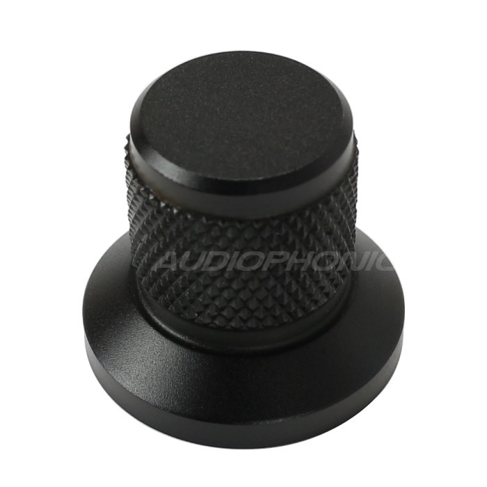 Knob Aluminum D Shaft 25x30x22mm Ø6mm Black
