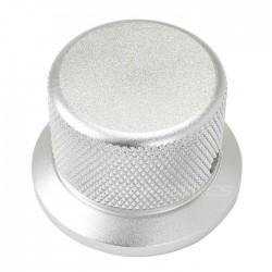 Bouton aluminium Grip argent 30x38x25mm Axe méplat Ø6mm