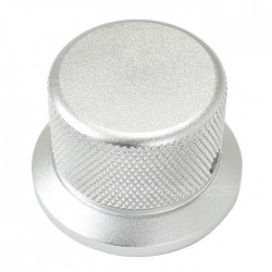 Silver Grip aluminum button 30x38x25mm Flat axis Ø6mm