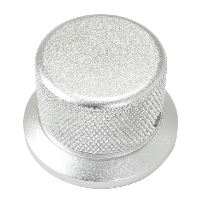 Silver Grip aluminum button 30x38x25mm Flat axis Ø6mm