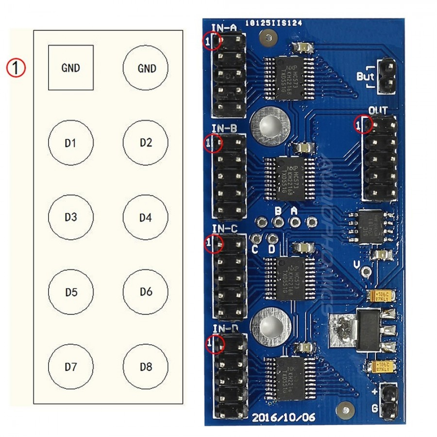 Four Way Audio I2s Input To One Out Switching Module Audiophonics How Fourway Switches Work
