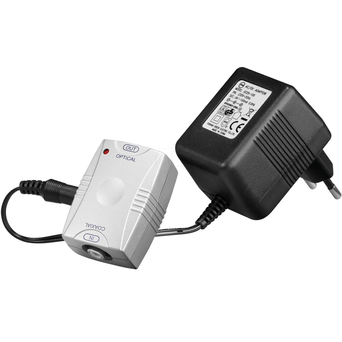 Adaptateur Convertisseur SPDIF Coaxial vers Toslink optique