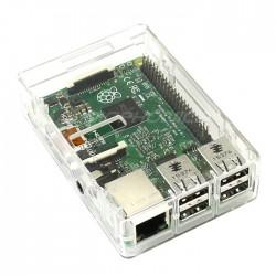 Boîtier plastique pour Raspberry Pi 3 / Pi 2 et ODROID-C2 Transparent
