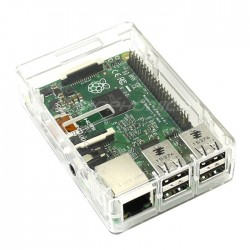 Raspberry Pi 3 / Pi 2 and ODROID-C2 Plastic Chassis / Case / Box Transparent