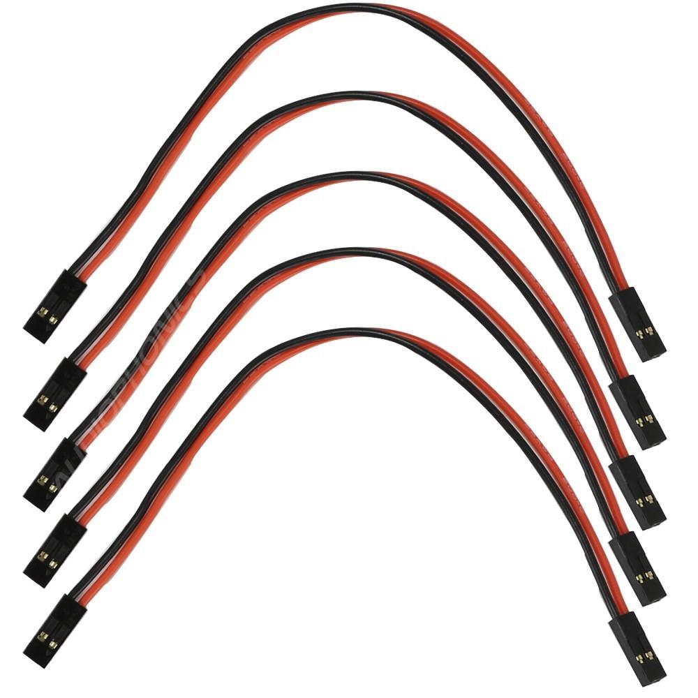 Câble I2S 2.54mm Femelle / Femelle Silicone 15cm 2 Pôles (Set x5)