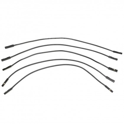 Cavaliers i2s flexibles femelle / femelle Silicone 2.54mm 17cm (Set x5)