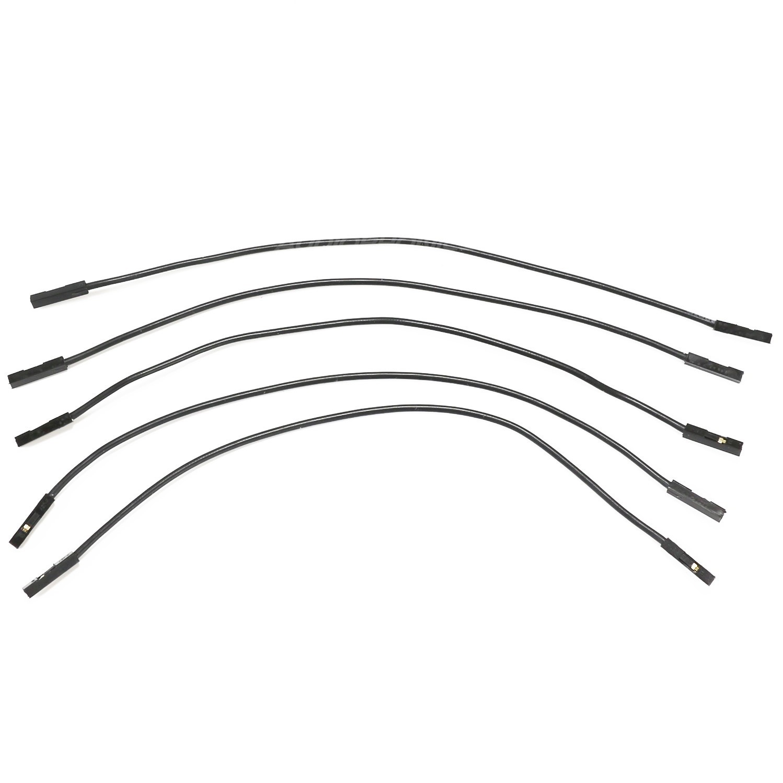 Cavaliers i2s flexibles femelle / femelle Silicone 2.54mm 17cm AWG 22 (Set x5)
