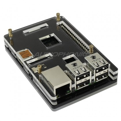KIT Boitier Ultra Plat acrylique pour Raspberry Pi 3 / Pi 2
