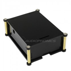 KIT Boitier acrylique pour Raspberry Pi 3 / Pi 2 et AUDIOPHONICS Digipi+