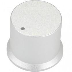Silver aluminum button 30x25x26mm Flat axis Ø6mm