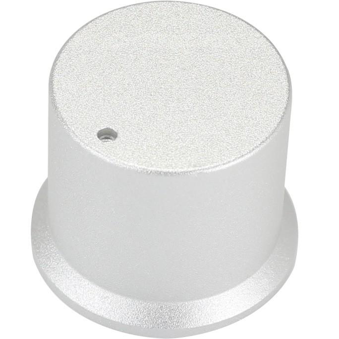 Bouton aluminium Argent 30x35x26mm Axe méplat Ø6mm