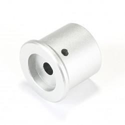 Bouton Aluminium Axe Méplat 30x35x26mm Ø6mm Argent