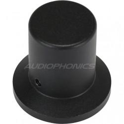 Black aluminum button 30x28x20mm Flat axis Ø6mm