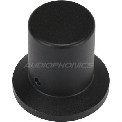 Knob Aluminum D Shaft 30x28x20mm Ø6mm Black