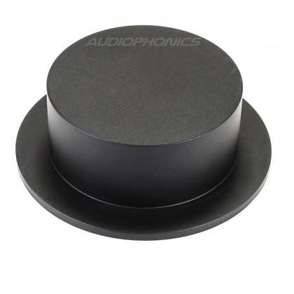 Bouton aluminium noir 102x75x35mm Axe méplat Ø6mm