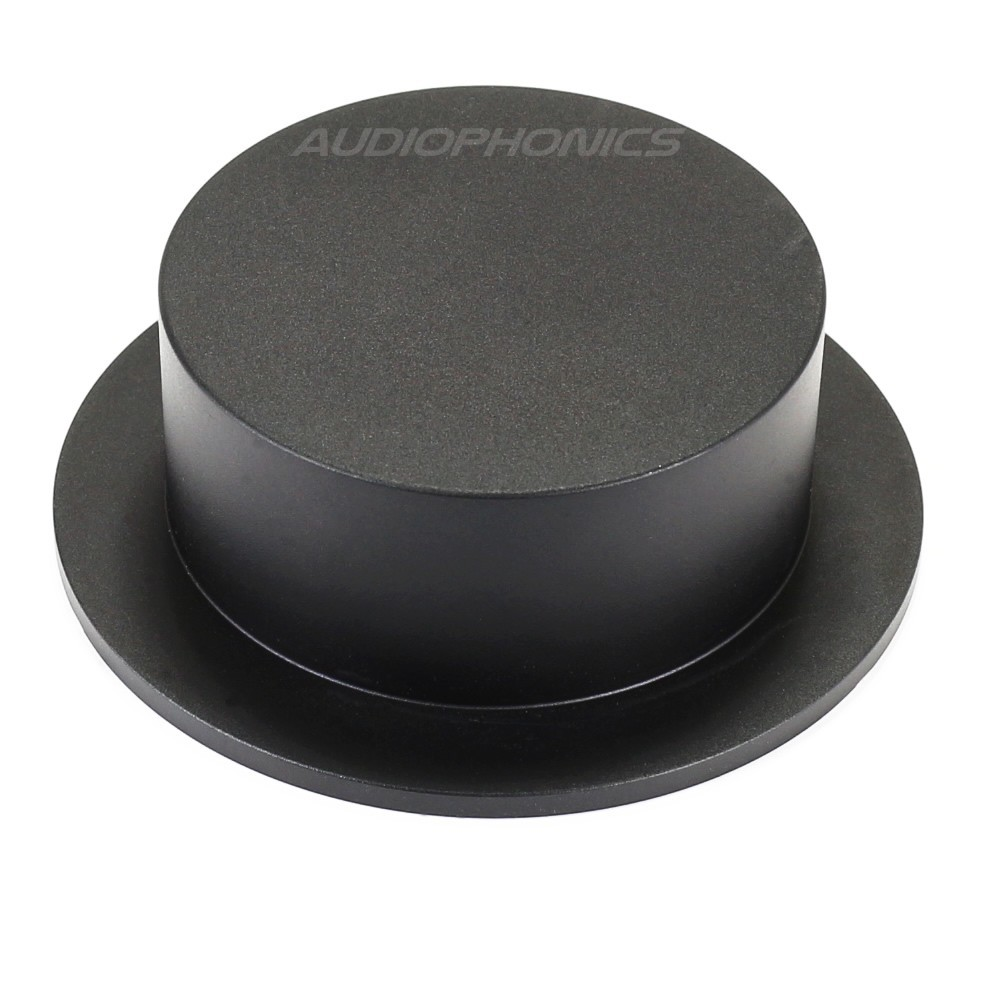 Black aluminum button 102xx75x35mm Flat axis Ø6mm