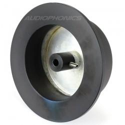Bouton Aluminium Axe Méplat 102x75x35mm Ø6mm Noir