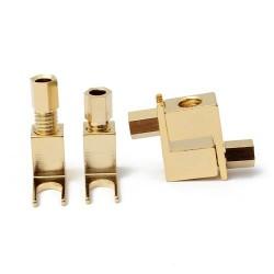 Fourches Cuivre plaqué Or Ø 6mm pour McINTOSH MC275 (x4)