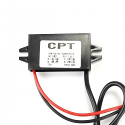 CPT Convertisseur DC-DC 12V / 5V 3A 15W avec micro USB
