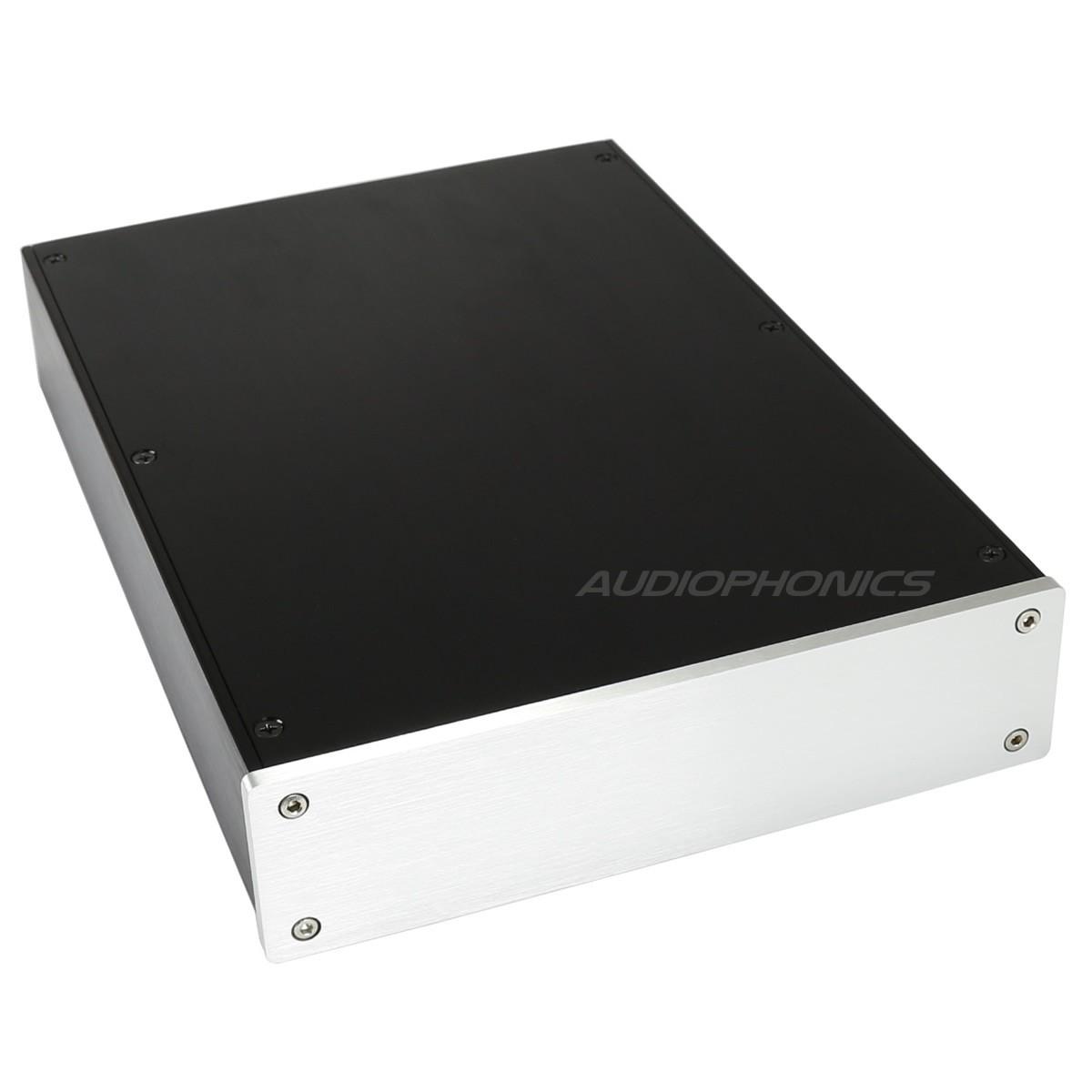 Boîtier DIY 100% aluminium avec embase IEC 306x215x55mm
