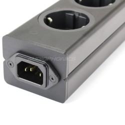 AUDIOPHONICS Aluminium Power distributor 8 Schuko plugs Black