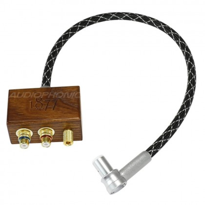 1877PHONO THE SPIRIT MKII 90° Phono DIN curved adapter - 2 RCA 0.45m