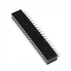 2.54mm GPIO Male / Female Pin Header 2x20 Pins 3mm (Unit)