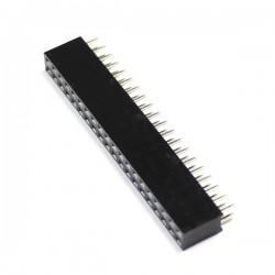 Connecteur Barrette Droit Femelle / Mâle 2x20 Pins Écartement 2.54mm Type GPIO Raspberry Pi