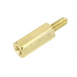 Brass Spacers Male / Female M2.5x10 + 6mm (x10)