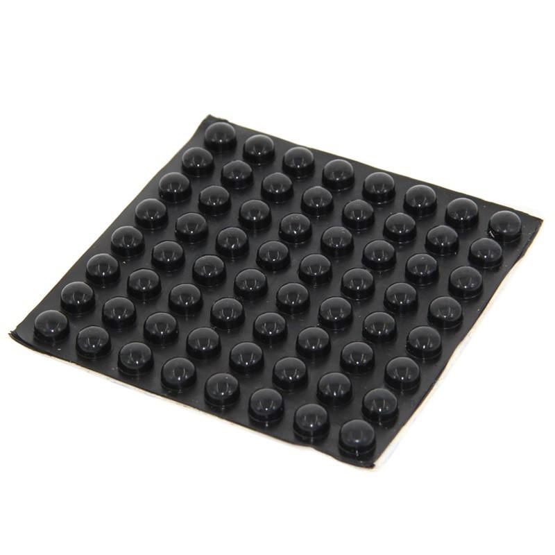 Pieds Caoutchouc Amortissant 10x5mm Noir (Set x4)