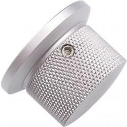 Bouton aluminium 38x25mm Argent Axe méplat Ø6mm