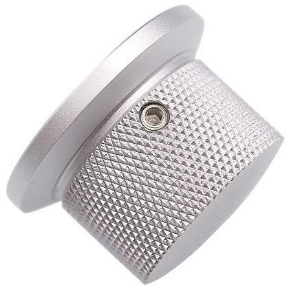 Bouton Aluminium Axe Méplat 38x25mm Ø6mm Argent