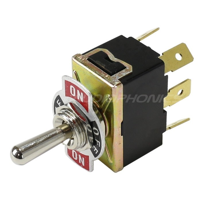 Aviation type Toggle Switch 2 pôles 3 positions 6 PIN 250V 15A